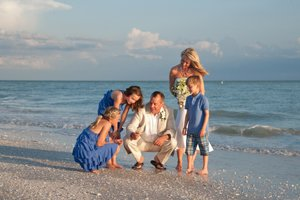 wedding photo of family on captiva island