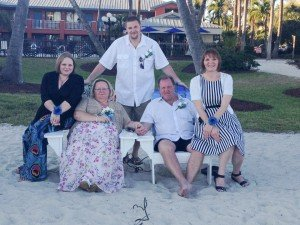 photo of vow renewal on sanibel island