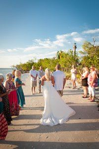 wedding ceremony at the Sanibel Island lighthouse