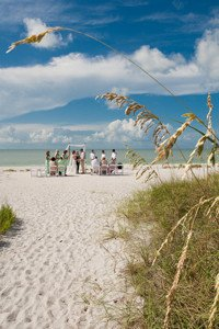 intimate wedding ceremony on Sanibel Island beach